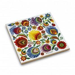 Podkładka pod garnek ceramiczna NANAELO KWIATY ŁOWICKIE LATO 15 x 15 cm