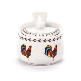 Pojemnik na sól i cukier wiszący ceramiczny DUMNY KOGUCIK  BIAŁY 0,4 l