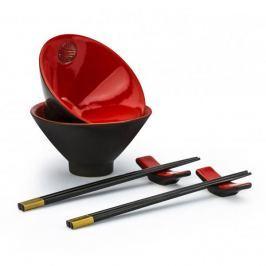 Zestaw do sushi ceramiczny SHUSI SET CZERWONY (4 el.)