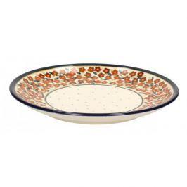 Talerz deserowy ceramiczny GU-814 DEK. DU52 Bolesławiec 19,5 cm