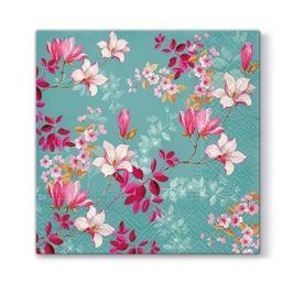 Serwetki papierowe dekoracyjne PAW MAGNOLIA TURKUSOWE 20 szt.