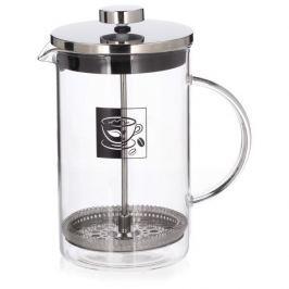 French press / Zaparzacz do kawy tłokowy szklany DUAL CZARNY 0,6 l