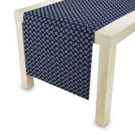 Bieżnik na stół bawełniany SERDUSZKA CIEMNOSZARY 40 x 140 cm