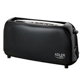 Toster / Opiekacz do kanapek elektryczny plastikowy ADLER SANDWICH CZARNY 750 W