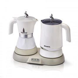 Kawiarka elektryczna aluminiowa ciśnieniowa ze spieniaczem ARIETE BREAKFAST BIAŁA 2 filiżanki espresso