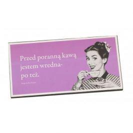 Tabliczka z napisem dekoracyjna drewniana PAN DRAGON JESTEM WREDNA