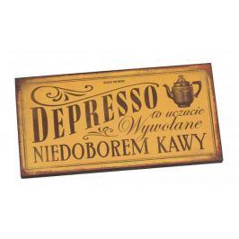 Tabliczka z napisem dekoracyjna drewniana PAN DRAGON DEPRESSO