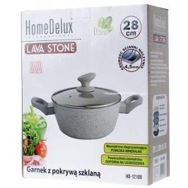 Garnek aluminiowy z pokrywką HOME DELUX LAVA STONE SZARY 5 l