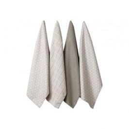Ręczniki kuchenne bawełniane LADELLE TAUPE KREMOWE 4 szt.