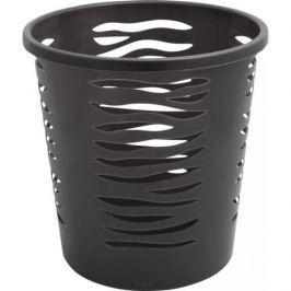Plastikowy kosz na śmieci BRANQ ZEBRA SZARY 10 l