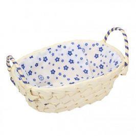 Koszyk z uchwytami na chleb i pieczywo DOMOTTI KWIATKI OWALNY MIX KOLORÓW 14,5 x 20,5 cm