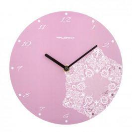 Zegar ścienny plastikowy FLORINA BONA RÓŻOWY 25 cm