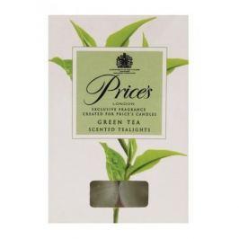 Świeczki zapachowe tealihgt woskowe PRICE'S CANDLES GREEN TEA ZIELONE 10 szt.