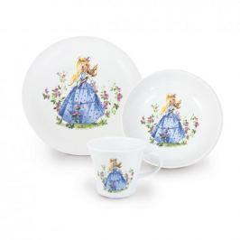 Naczynia dla dzieci porcelanowe KAHLA ŚPIĄCA KRÓLEWNA BIAŁE 3 szt.