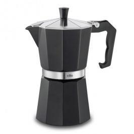 Kawiarka aluminiowa ciśnieniowa CILIO CLASSICO CZARNA - kafetiera na 6 filiżanek espresso