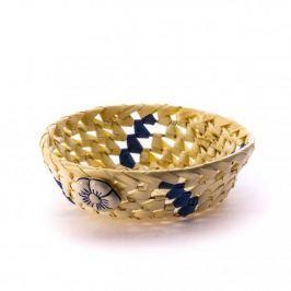 Koszyk na chleb i pieczywo DOMOTTI OKRĄGŁY KWIATY MIX KOLORÓW 23,5 cm