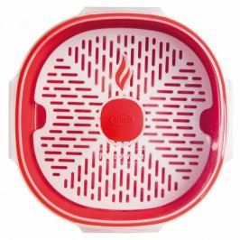 Pojemnik do gotowania na parze w mikrofalówce plastikowy SNIPS TEMPOZERO CZERWONY 2 l