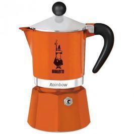 Kawiarka aluminiowa ciśnieniowa BIALETTI RAINBOW POMARAŃCZOWA - kafetiera na 6 filiżanek espresso