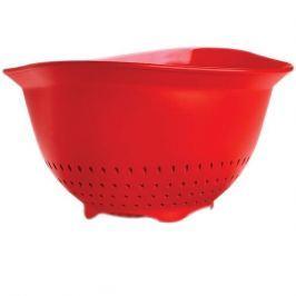 Cedzak / Durszlak plastikowy CUISIPRO DUŻY CZERWONY 26,5 cm