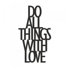 Napis dekoracyjny na ścianę DEKOSIGN DO ALL THINGS WITH LOVE Inne dekoracje i ozdoby