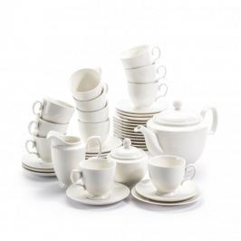 Serwis kawowy porcelanowy KAROLINA MARIAPAULA ECRU na 12 osób (39 el.) Serwisy do kawy i herbaty