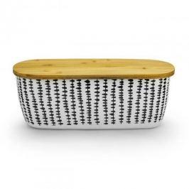 Chlebak bambusowyz deską do krojenia ODELO ŁEZKI BEŻOWY  Pojemniki kuchenne