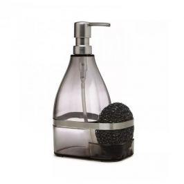 Dozownik do płynu do mycia naczyń z gąbką plastikowy UMBRA BANDO CZARNY Akcesoria do sprzątania