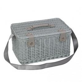 Koszyk piknikowy wiklinowy CILIO PARADISO TURKUOSWY 45 x 30 cm 23 el. Pudła pojemniki i kosze