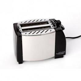 Toster / Opiekacz do kanapek elektryczny ze stali szlachetnej ADLER MAT 750 W Tostery