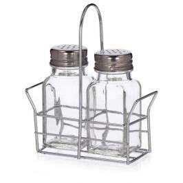 Solniczka i pieprzniczka na stojaku szklane FLORINA SALTO Inne naczynia kuchenne