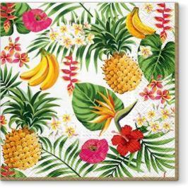 Serwetki papierowe dekoracyjne PAW TROPICALIA WIELOKOLOROWE 20 szt. Obrusy serwetki i bieżniki