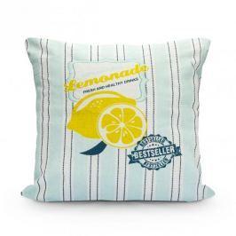 Poszewka na poduszkę ozdobna bawełniana LEMONIADA MIĘTOWA 40 X 40 cm Inne tekstylia do domu