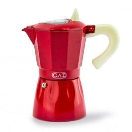 Włoska kawiarka aluminiowa ciśnieniowa GAT ROSSANA RED - kafetiera na 6 filiżanek espresso Dzbanki i imbryki