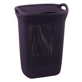 Brudownik / Kosz na pranie i bieliznę plastikowy CURVER KNIT WYSOKI FIOLETOWY 57 l