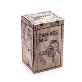 Kubek ceramiczny GRANAT Z ZAWLECZKĄ CZARNY 280 ml Kubki