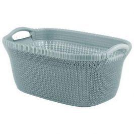 Brudownik / Kosz na pranie i bieliznę plastikowy CURVER KNIT NIEBIESKI 40 l Pudła pojemniki i kosze