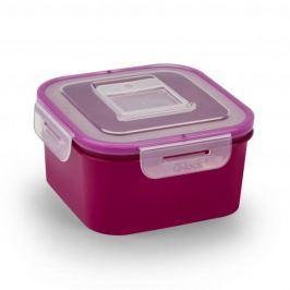 Pojemnik na żywność plastikowy BRANQ QLOCK SQUARE FIOLETOWY 0,7 l