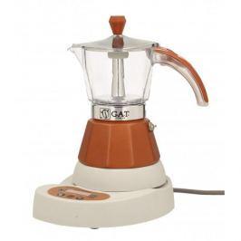 Kawiarka elektryczna aluminiowa ciśnieniowa GAT VITAGE BRONZE - kafetiera na 4 filiżanki espresso