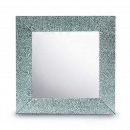 Lustro dekoracyjne szklane DUO KWADRAT WINTER SREBRNE