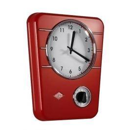 Zegar ścienny ze stali nierdzewnej WESCO TIMER CZERWONY 30,5 x 24,5 cm Zegary