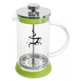 French press / Zaparzacz do kawy tłokowy szklany KONVICE ZIELONY 0,6 l