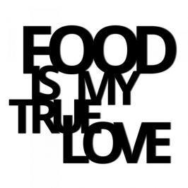 Napis na ścianę ozdobny DEKOSIGN FOOD IS MY TRUE LOVE CZARNY Inne dekoracje i ozdoby