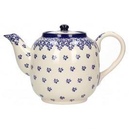 Dzbanek do herbaty i kawy ceramiczny GU-597 DEK. 882A  Bolesławiec 1,5 l