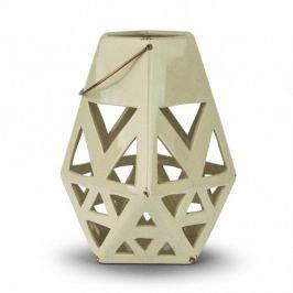 Lampion ozdobny ceramiczny DUO STAR KREMOWY 28 cm Lampy podłogowe