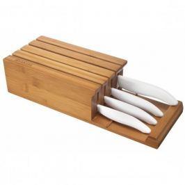 Noże kuchenne ceramiczne w bloku KYOCERA FK COLOUR BIAŁE 4 szt. Noże kuchenne