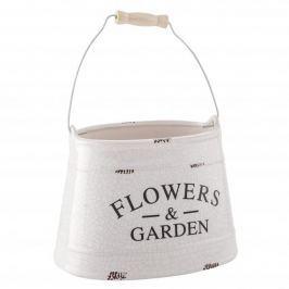 Doniczka na kwiaty ceramiczna FLOWERS AND GARDEN BIAŁA 20 x 15 cm