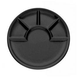 Talerz do fondue ceramiczny KELA ARCADE CZARNY - czarny