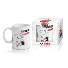 Kubek ceramiczny boss z napisem QBEK PAKERA 300 ml Kubki