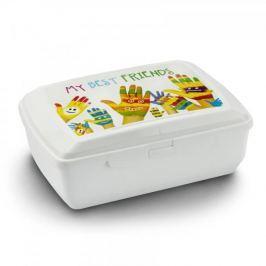 Śniadaniówka / Pojemnik na kanapki plastikowy BRANQ MY BEST FRIENDS BIAŁA Pojemniki kuchenne