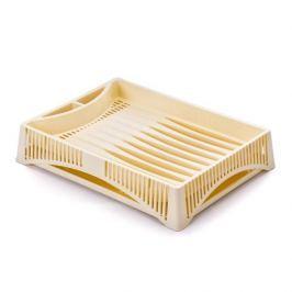 Suszarka do naczyń plastikowa BRANQ ELBA KREMOWA 38 x 27 cm